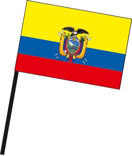 Ecuador als Stockfahne