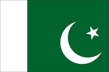 Pakistan als Fanfahne