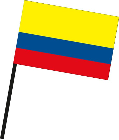 Kolumbien als Stockfahne