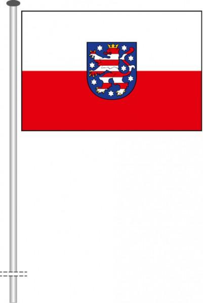 Thüringen - Dienstflagge als Querformatfahne