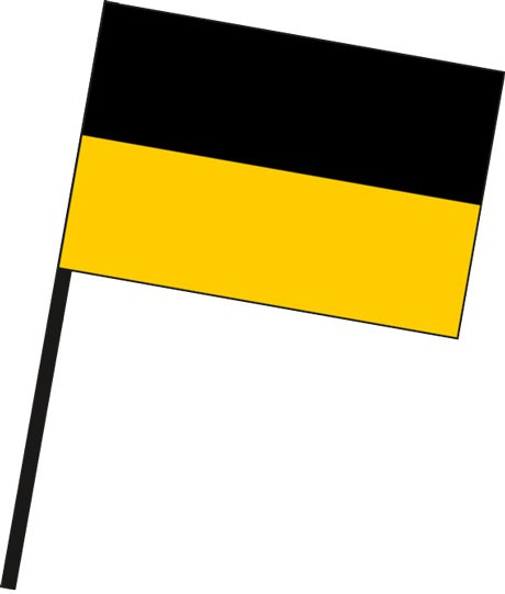 Baden-Würtemberg - Streifenflagge als Stockfahne
