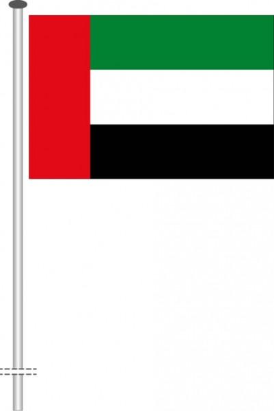 Vereinigte Arabische Emirate als Querformatfahne