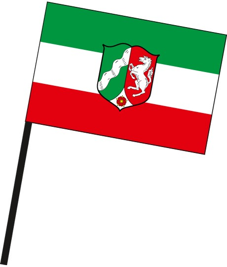 Nordrhein-Westfalen - Dienstflagge als Stockfahne