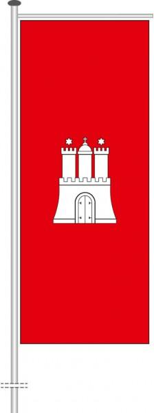 Hamburg - Bürgerflagge als Auslegerfahne