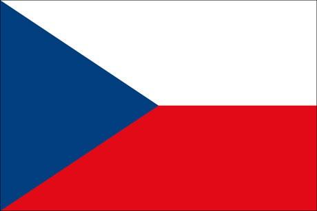 Tschechische Republik als Fanfahne