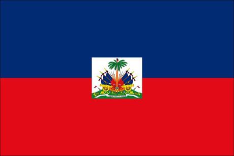 Haiti als Fanfahne