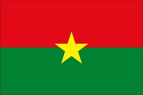 Burkina Faso als Fanfahne