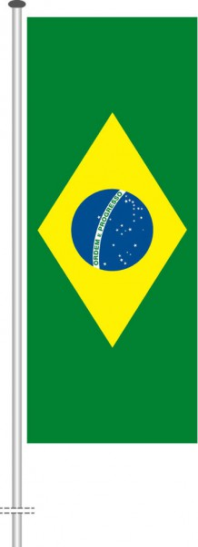 Brasilien als Hochformatfahne