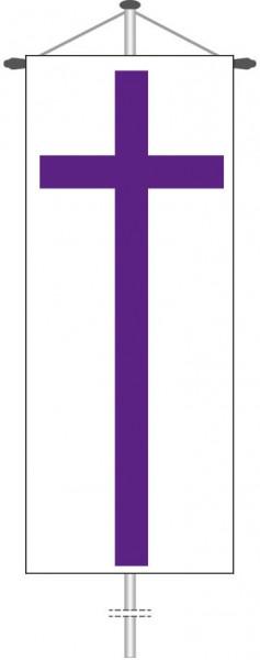 Evangelisches Kirchenkreuz als Bannerfahne