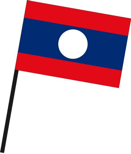 Laos als Stockfahne