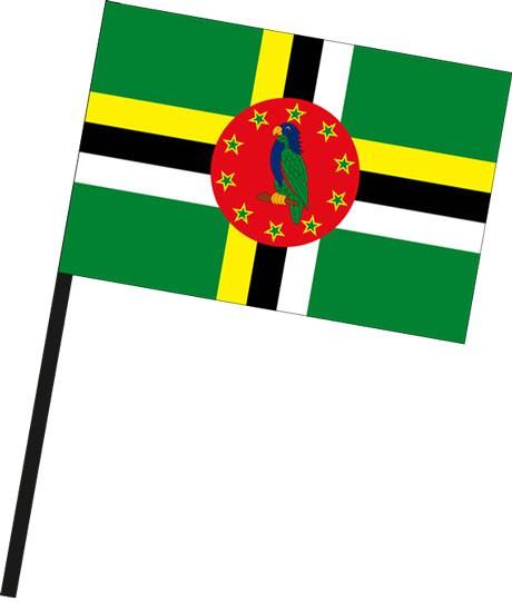 Dominica als Stockfahne