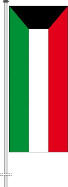 Kuwait als Hochformatfahne