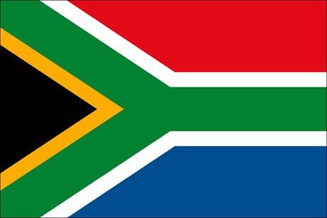 Suedafrika als Fanfahne