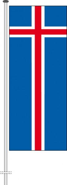 Island als Hochformatfahne