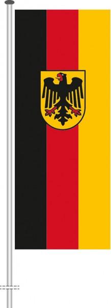 Bundesdienstflagge als Hochformatfahne