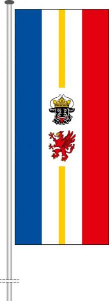 Mecklenburg-Vorpommern - Dienstflagge als Hochformatfahne