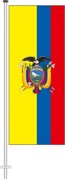 Ecuador als Hochformatfahne
