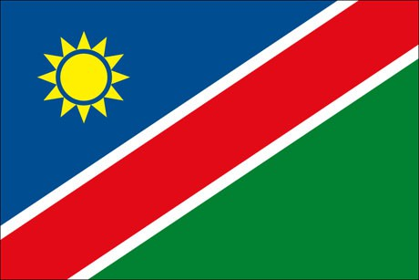 Namibia als Fanfahne
