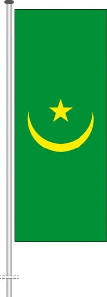 Mauretanien als Hochformatfahne