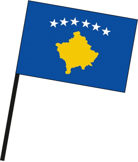 Kosovo als Stockfahne