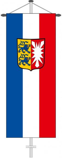 Schleswig-Holstein - Dienstflagge als Bannerfahne