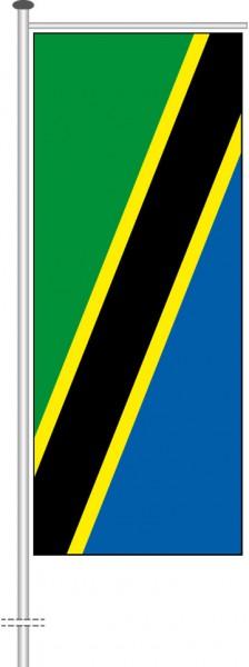 Tansania als Auslegerfahne