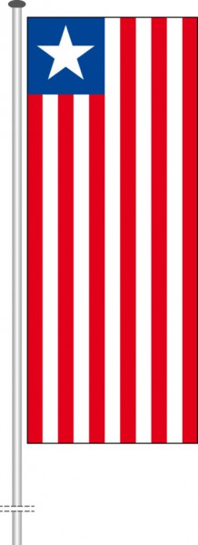 Liberia als Hochformatfahne