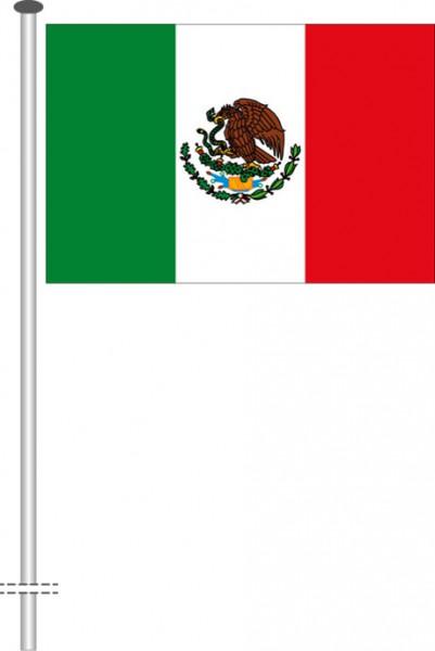 Mexiko als Querformatfahne