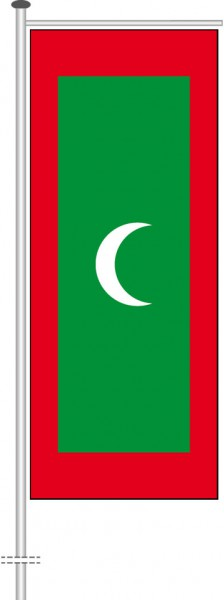 Malediven als Auslegerfahne