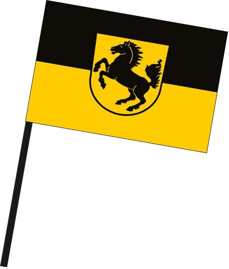 Stuttgart mit Wappen als Stockfahne