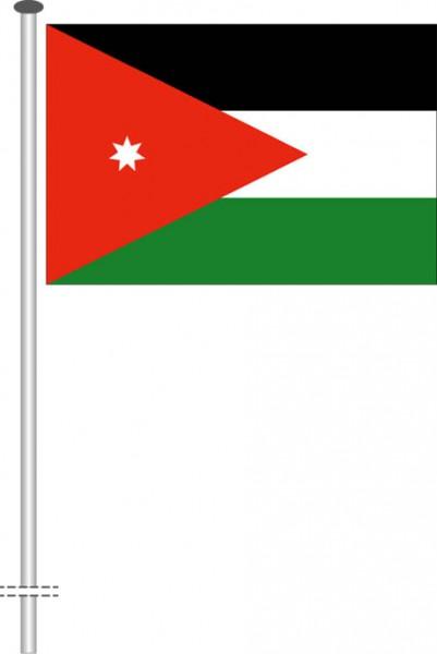 Jordanien als Querformatfahne
