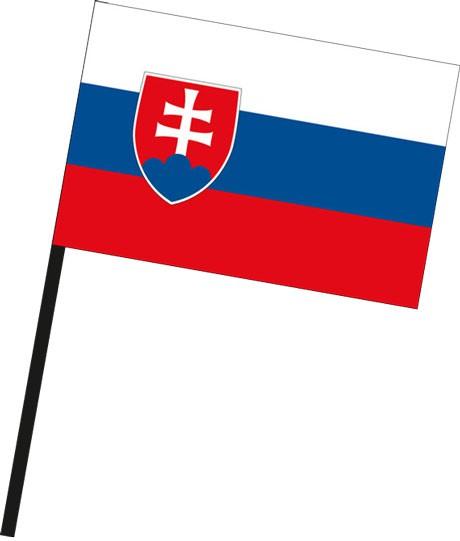 Slowakei als Stockfahne