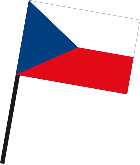 Tschechische Republik als Stockfahne