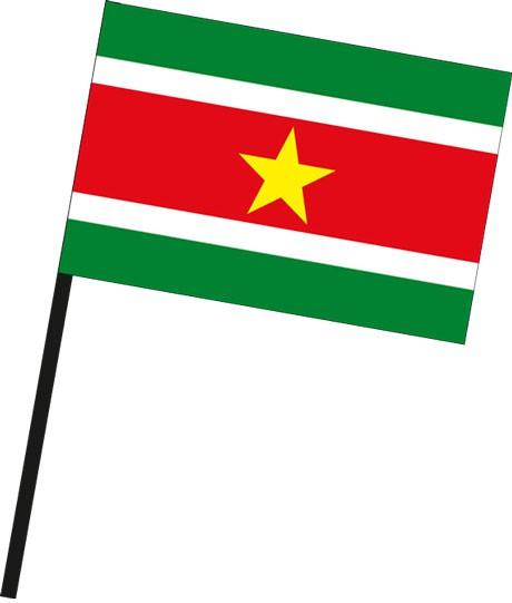 Suriname als Stockfahne