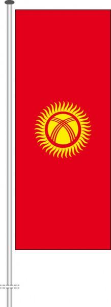 Kirgisistan als Hochformatfahne