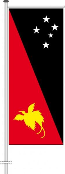 Papua-Neuguinea als Auslegerfahne