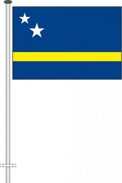 Curacao als Querformatfahne