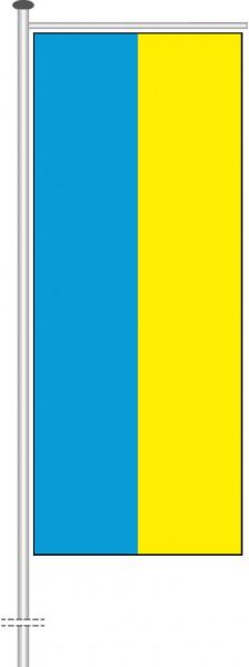 Ukraine als Auslegerfahne