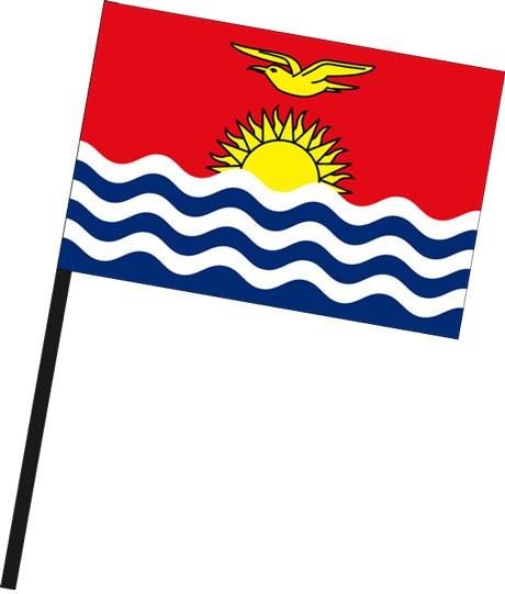 Kiribati als Stockfahne