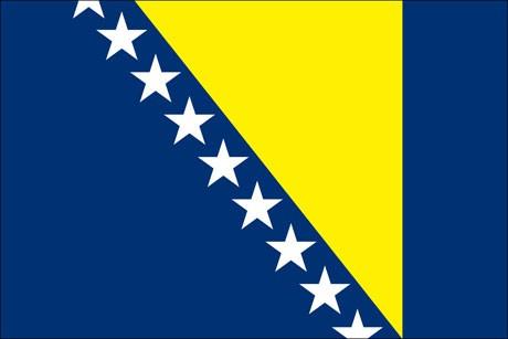 Bosnien Herzegowina als Fanfahne