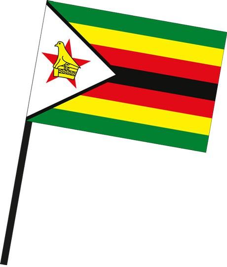 Simbabwe als Stockfahne