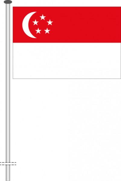 Singapur als Querformatfahne