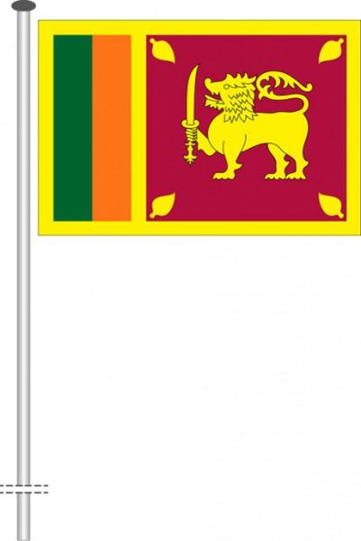 Sri Lanka als Querformatfahne