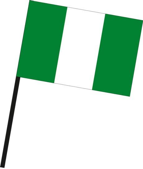 Nigeria als Stockfahne