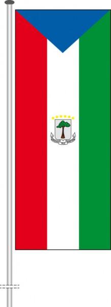 Aequatorialguinea als Hochformatfahne