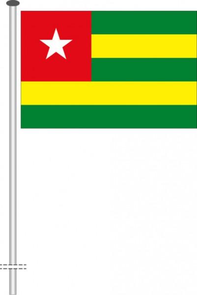 Togo als Querformatfahne