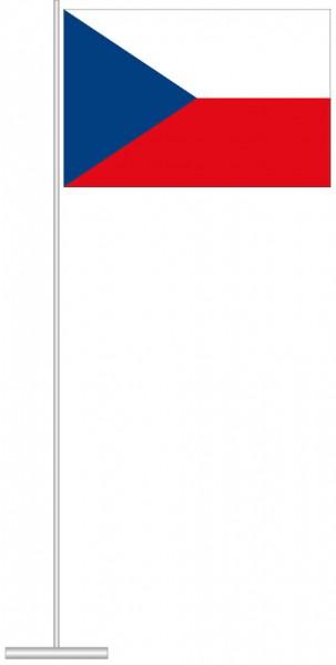 Tschechische Republik als Tischfahne