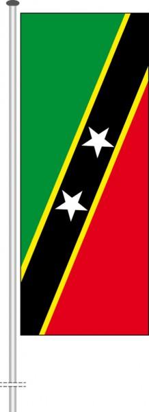 St. Kitts und Nevis als Hochformatfahne