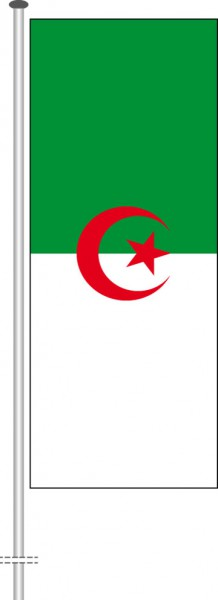 Algerien als Hochformatfahne