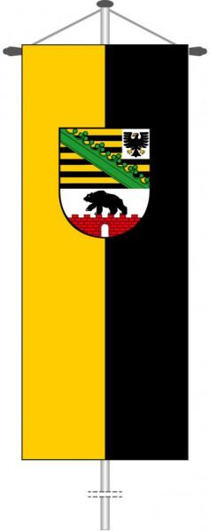 Sachsen-Anhalt - Dienstflagge als Bannerfahne